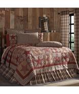 Dawson Star Patchwork Bedding Vintage Lodge King Queen Twin Sham Skirt V... - $26.00+