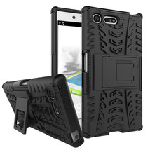 Armor Dual Layer Kickstand Protective Case for Sony Xperia X Compact - Black  - $4.99