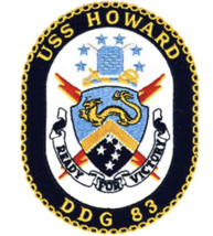 "5"" NAVY USS DDG-83 HOWARD EMBROIDERED PATCH - $23.74"