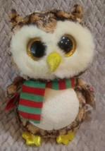 "Wise The Owl Ty 7"" Plush Toy B63 - $14.84"