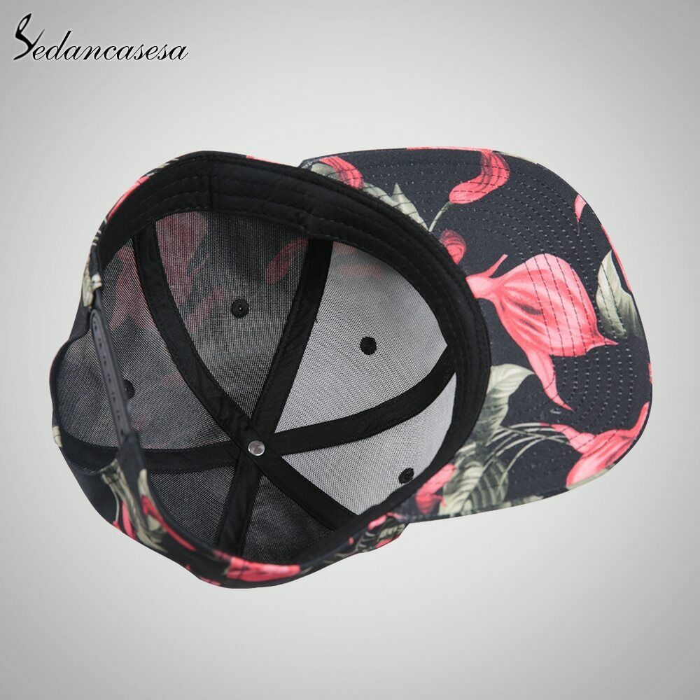 Sedancasesa® Snapback Cap Printed Flower Design Letter NYC Baseball Caps