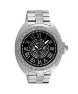 Black Dial Roman Numeral Classic Bling Metal Watch - £32.24 GBP