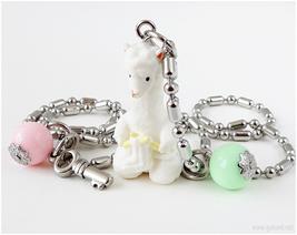 Alpaca Figure Kawaii Necklace, Mint Green, Pastel Pink, Sweet Lolita - $19.00