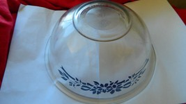 Pyrex Blue Ribbons #325 Deep Mixing Bowl Vguc Free Shipping In Usa - $28.04