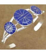 Inlaid Lapis Sterling Silver Cuff Bracelet - $197.07