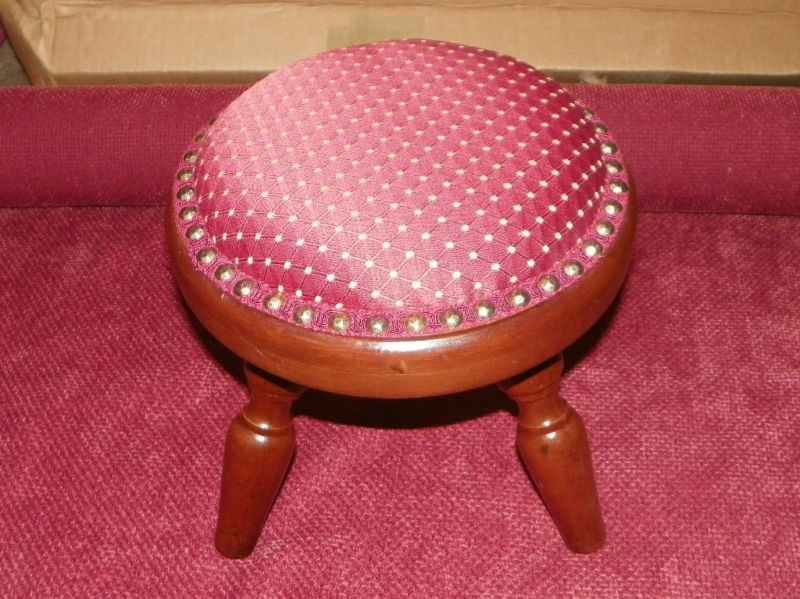 Primary image for Round Mahogany Footstool Stool  (ST12)