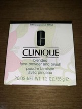 Clinique Blended Face Powder & Brush Color: #03 Transparency BNIB - $29.69