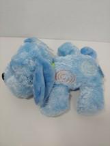 Carters Child of Mine Plush blue puppy dog green bow swirls orange baby toy - $49.00