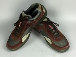 "PRADA Americas Cup Burgundy Gray Suede 4E1186  Men""s Sneakers Shoes US S... - $122.75"