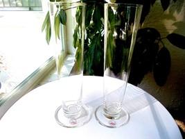 Set of 2 Bodum Mouth Blown Pilsner Glasses Signed - $29.69