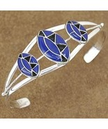 Lapis Sterling Silver Inlaid Cuff Bracelet - $187.27