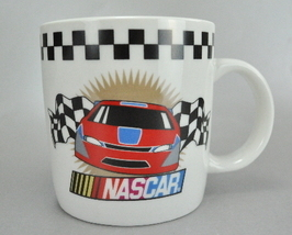 NASCAR Checkered Flag White Ceramic 10 Oz Coffee Mug Cup  - $7.75