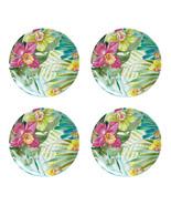 """Maui Melamine 11"""" Dinner Plates Tropical Set of 4 Coastal Living Beach H... - $49.38"""