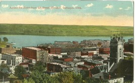 Across the River from 4th Street Elevator, Dubuque, Iowa early 1900s Postcard - $5.77