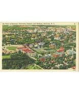 Air view of Syracuse Campus, New York unused linen Postcard  - $6.77
