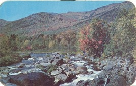 Ausable River near Wilmington in the Adirondacks, New York 1950s unused Postcard - $4.99