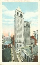 Bankers Trust Building, New York City 1920 used Postcard  - $3.99