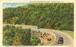 Big Curve Approaching Summit, Taconic Trail 1930s unused linen Postcard  - $4.99