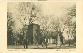 Bruton Parish Church, Williamsburg, Virginia old unused Postcard  - $5.99