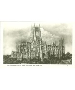 The Cathedral of St. John the Divine, New York City RPPC Real Photo Post... - $4.99