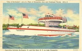 City of Berlington, Lake Champlain, New York  1940 used Postcard  - $7.99