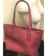 NWT Coach F58846 Crossgrain Leather City Zip Tote Shoulder Bag in Strawb... - $93.06