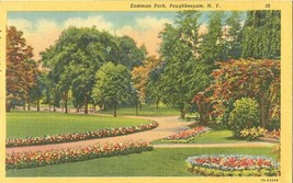 Eastman Park, Poughkeepsie, New York 1955 used linen Postcard  - $5.77