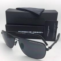Porsche Diseño Gafas de Sol P'8639 a 62-13 145 Black Aviador Montura W/ Gris