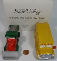 Department 56 Snow Village School Bus & Snow Plow Figures #5137-3 - $29.99