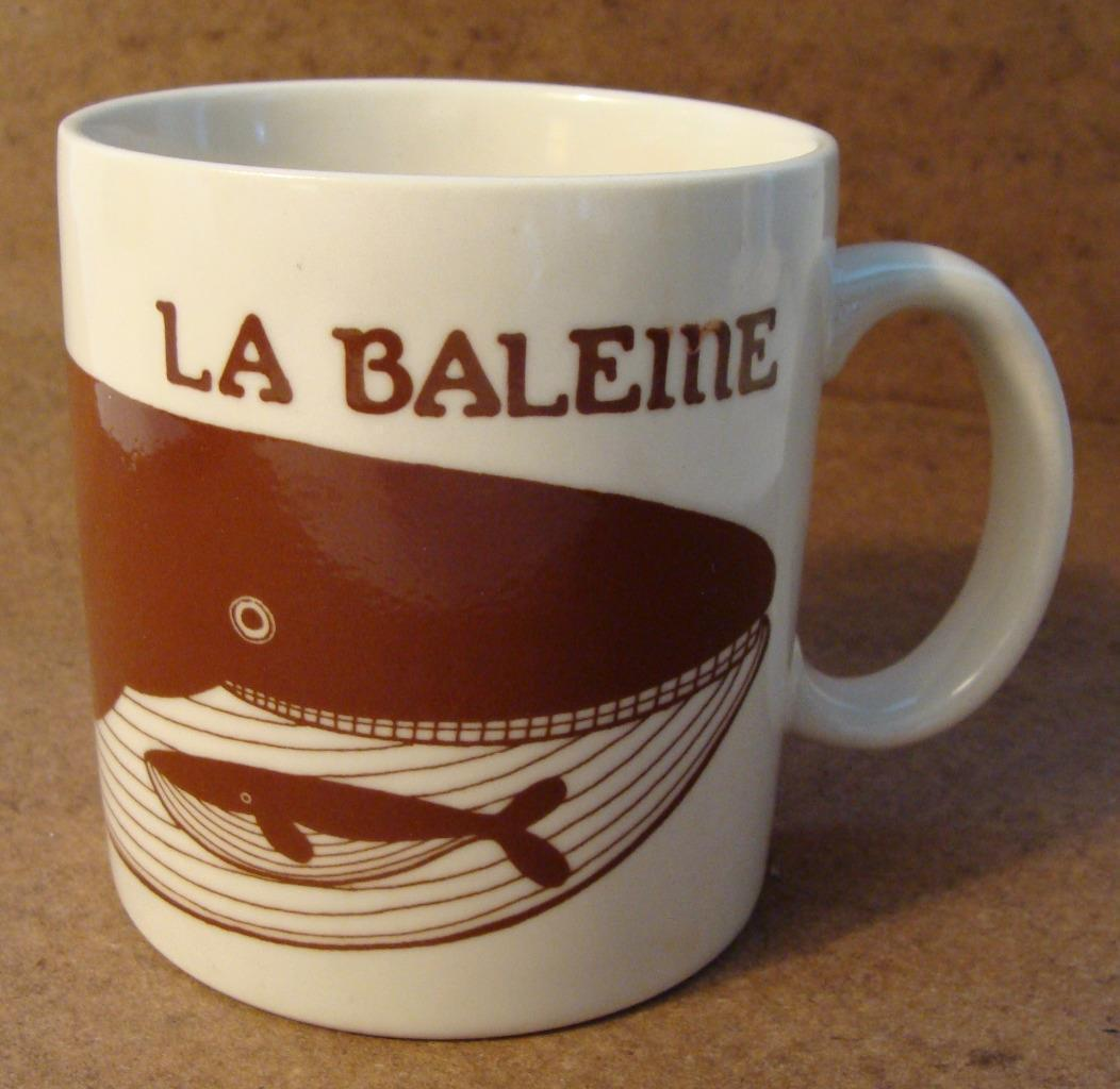 Vintage Taylor & NG 1979 LA BALEINE Mug Signed Japan The Whale Collectible