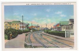 Railroad Track Station No 1 Wrightsville Beach North Carolina postcard - $6.24
