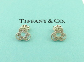 Authentic TIFFANY & CO Sterling Silver Venezia Goldoni Triplo Earrings - $126.00