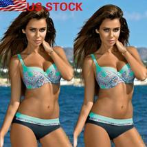 US Women Swimming Costumes Padded Bikini Brazilian Swimwear Beachwear Summer image 3