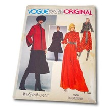 Vogue Paris Original 1558 Yves St Laurent Sz 12 Sewing Pattern Comes wit... - $99.00