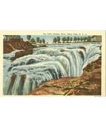 The Falls, Hudson River, Glens Falls, New York unused linen Postcard  - $3.99