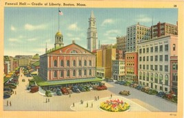 Faneuil Hall – Cradle of Liberty, Boston Mass unused linen Postcard  - $3.50