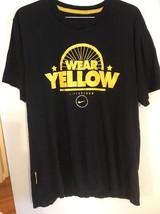 Nike LIVESTRONG T shirt cycling black and yellow Medium Bicycle Wheel Medium - $18.69