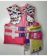Hello Kitty NWT child 30-50lbs pink 3 buckle adjustable closure life vest - $27.13