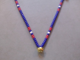 THE REBEL ~ HORSE RHYTHM BEADS ~ RED, WHITE, BLUE ~ HORSE SIZE / 54 INCHES - $17.00