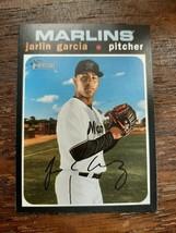 x1 2020 Topps Heritage Base #155 Jarlin Garcia Miami Marlins Baseball Ca... - $1.99