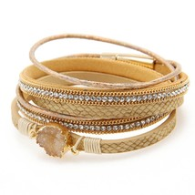 ZG Vintage Stone Crystal Charm Bracelets & Bangle For Woman Men Fashion Female H - $9.17