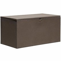 Arrow Spacemaker 134 Gallon Steel Deck Box, Espresso - $218.97