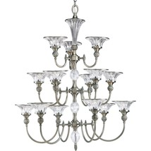 Classic Silver Finish Chandelier Crystal Accents Progress Lighting P4508... - $1,153.05