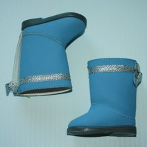 American Girl 2006 I Like Your Style Outfit Periwinkle Boots Shoes Only For Doll - $6.99