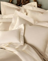 Sferra Light Tan King Sheet Set Solid Egyptian Cotton Sateen Elyse Fawn Italy - $445.00