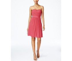 Adrianna Papell Strapless Lace A-Line Dress Size 4 MSRP $159.00 - $23.76