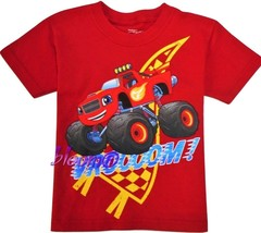 BLAZE & MONSTER MACHINES Red Tee T-Shirt NEW Toddler's Size 2T, 3T or 4T... - $15.98