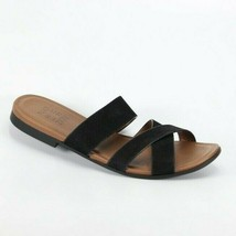 Naturalizer Womens Treasure Slip On Sandals Black Nubuck Size 7.5 New Authentic - $40.37