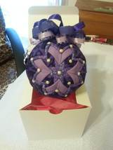 Quilted Fabric Valentine Decoration Ornament Gift Keepsake Collectable - $18.00