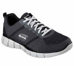 Skechers Charcoal Extra Wide Fit Shoes Men Memory Foam Sporty Trail Hiki... - $47.99